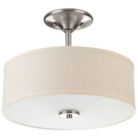 Inspire 2 Light 13 inch Brushed Nickel Flush Mount Ceiling Light