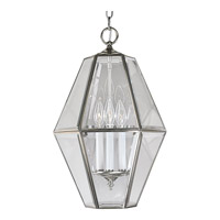 Progress P3716-09 Bound Beveled Glass 3 Light 13 inch Brushed Nickel Hall & Foyer Ceiling Light