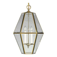 Progress Lighting Bound Beveled Glass 3 Light Hall & Foyer in Polished Brass P3716-10