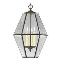 Progress Lighting Bound Beveled Glass 3 Light Hall & Foyer in Antique Bronze P3716-20