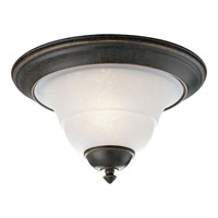 Melbourne 1 Light 12 inch Espresso Flush Mount Ceiling Light