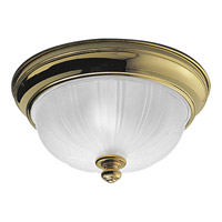 Progress Lighting Prescott 2 Light Close-to-Ceiling in Polished Brass P3732-10