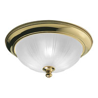 Progress Lighting Prescott 3 Light Close-to-Ceiling in Polished Brass P3734-10