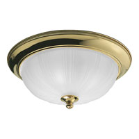 Progress Lighting Prescott 3 Light Close-to-Ceiling in Polished Brass P3735-10
