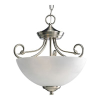 Progress Lighting Pavilion 2 Light Semi-Flush Mount in Brushed Nickel P3738-09