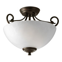 Progress Lighting Pavilion 2 Light Semi-Flush Mount in Antique Bronze P3738-20