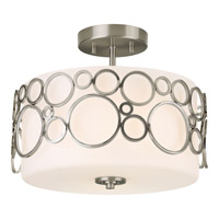 Progress Lighting Bingo 2 Light Semi-Flush Mount in Brushed Nickel P3741-09