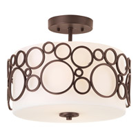 Bingo 2 Light 14 inch Venetian Bronze Semi-Flush Mount Ceiling Light