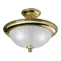 Progress Lighting Prescott 3 Light Semi-Flush Mount in Polished Brass P3746-10