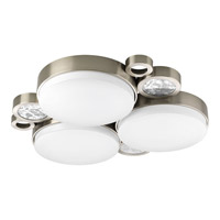 Progress Lighting Bingo 3 Light Flush Mount in Brushed Nickel P3747-0930K