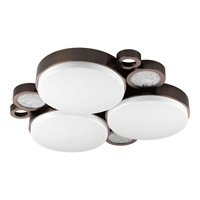 Progress Lighting Bingo 3 Light Flush Mount in Venetian Bronze P3747-7430K