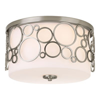 Progress Lighting Bingo 3 Light Flush Mount in Brushed Nickel P3752-09