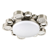 Progress Lighting Bingo 1 Light Flush Mount in Brushed Nickel P3756-0930K