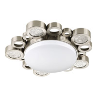 Progress Bingo 1 Light Flush Mount in Brushed Nickel P3756-0930K9