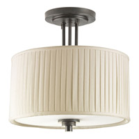 Clayton 2 Light 13 inch Espresso Semi-Flush Mount Ceiling Light
