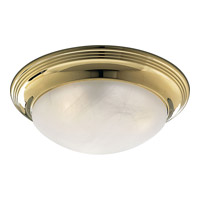 Progress Lighting Melon 2 Light Flush Mount in Polished Brass P3760-10EBWB