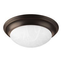 Melon 2 Light 17 inch Antique Bronze Flush Mount Ceiling Light