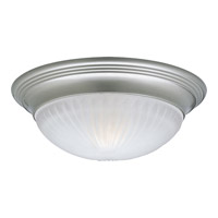 Progress Lighting Melon 1 Light Flush Mount in Brushed Nickel P3761-09EBWB