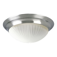 Progress Lighting Melon 2 Light Flush Mount in Brushed Nickel P3762-09EBWB