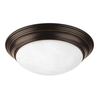Melon 1 Light 12 inch Antique Bronze Flush Mount Ceiling Light