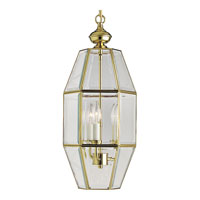 Progress Lighting Bound Beveled Glass 3 Light Hall & Foyer in Polished Brass P3766-10 photo thumbnail