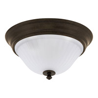 Renovations 2 Light 13 inch Forged Bronze Flush Mount Ceiling Light