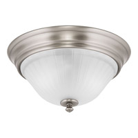 Renovations 2 Light 13 inch Antique Nickel Flush Mount Ceiling Light