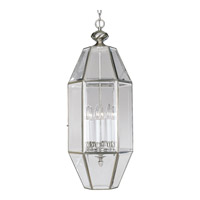Bound Beveled Glass 6 Light 12 inch Brushed Nickel Hall & Foyer Ceiling Light