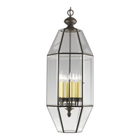 Progress Lighting Bound Beveled Glass 6 Light Hall & Foyer in Antique Bronze P3779-20