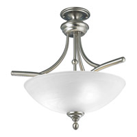 Progress Lighting Glendale 3 Light Semi-Flush Mount in Brushed Nickel P3780-09
