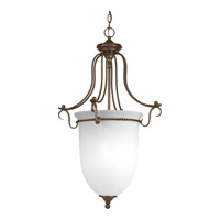 Avalon 3 Light 21 inch Antique Bronze Foyer Pendant Ceiling Light in Alabaster Glass