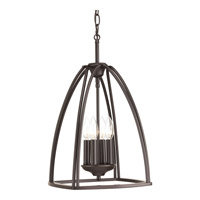 Progress Lighting Tally 4 Light Foyer Pendant in Antique Bronze with Etched White Linen Glass P3786-20