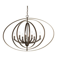 Progress P3791-20 Equinox 8 Light 39 inch Antique Bronze Foyer Pendant Ceiling Light
