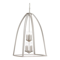 Tally 8 Light 20 inch Brushed Nickel Foyer Pendant Ceiling Light