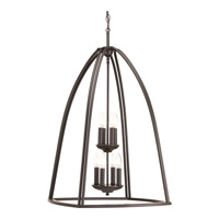Tally 8 Light 20 inch Antique Bronze Foyer Pendant Ceiling Light