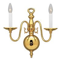 Progress Lighting Americana 2 Light Wall Bracket in Polished Brass P3802-10