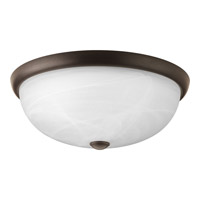 Random 3 Light 17 inch Antique Bronze Flush Mount Ceiling Light