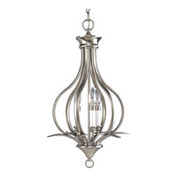 Progress P3807-09 Trinity 3 Light 14 inch Brushed Nickel Hall & Foyer Ceiling Light