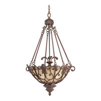 Progress P3809-75 Messina 3 Light 23 inch Aged Mahogany Hall & Foyer Ceiling Light photo thumbnail