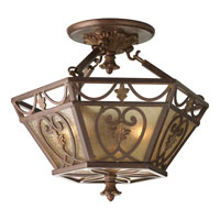 Progress Lighting Thomasville Drayton Hall 3 Light Semi-Flush Mount in Aged Mahogany P3812-75