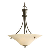 Progress P3814-77 Cantata 3 Light 20 inch Forged Bronze Hall & Foyer Ceiling Light in Seeded Topaz Glass