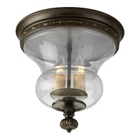 Fiorentino 2 Light 12 inch Forged Bronze Close-to-Ceiling Ceiling Light