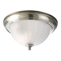 Progress Lighting Melon Glass 1 Light Close-to-Ceiling in Brushed Nickel P3816-09EBWB