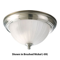 Progress Lighting Melon Glass 1 Light Close-to-Ceiling in Polished Brass P3816-10