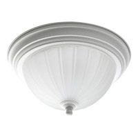 Progress P3816-30 Melon Glass 1 Light 11 inch Textured White Close-to-Ceiling Ceiling Light