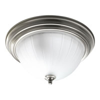 Progress Lighting Melon Glass 2 Light Close-to-Ceiling in Brushed Nickel P3817-09EBWB