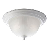 Melon Glass 2 Light 13 inch Textured White Close-to-Ceiling Ceiling Light