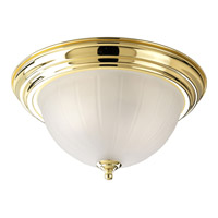Progress Lighting Melon Glass 3 Light Close-to-Ceiling in Polished Brass P3818-10