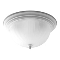 Melon Glass 3 Light 15 inch Textured White Close-to-Ceiling Ceiling Light