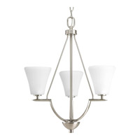 Bravo 3 Light 18 inch Brushed Nickel Hall & Foyer Ceiling Light in Etched